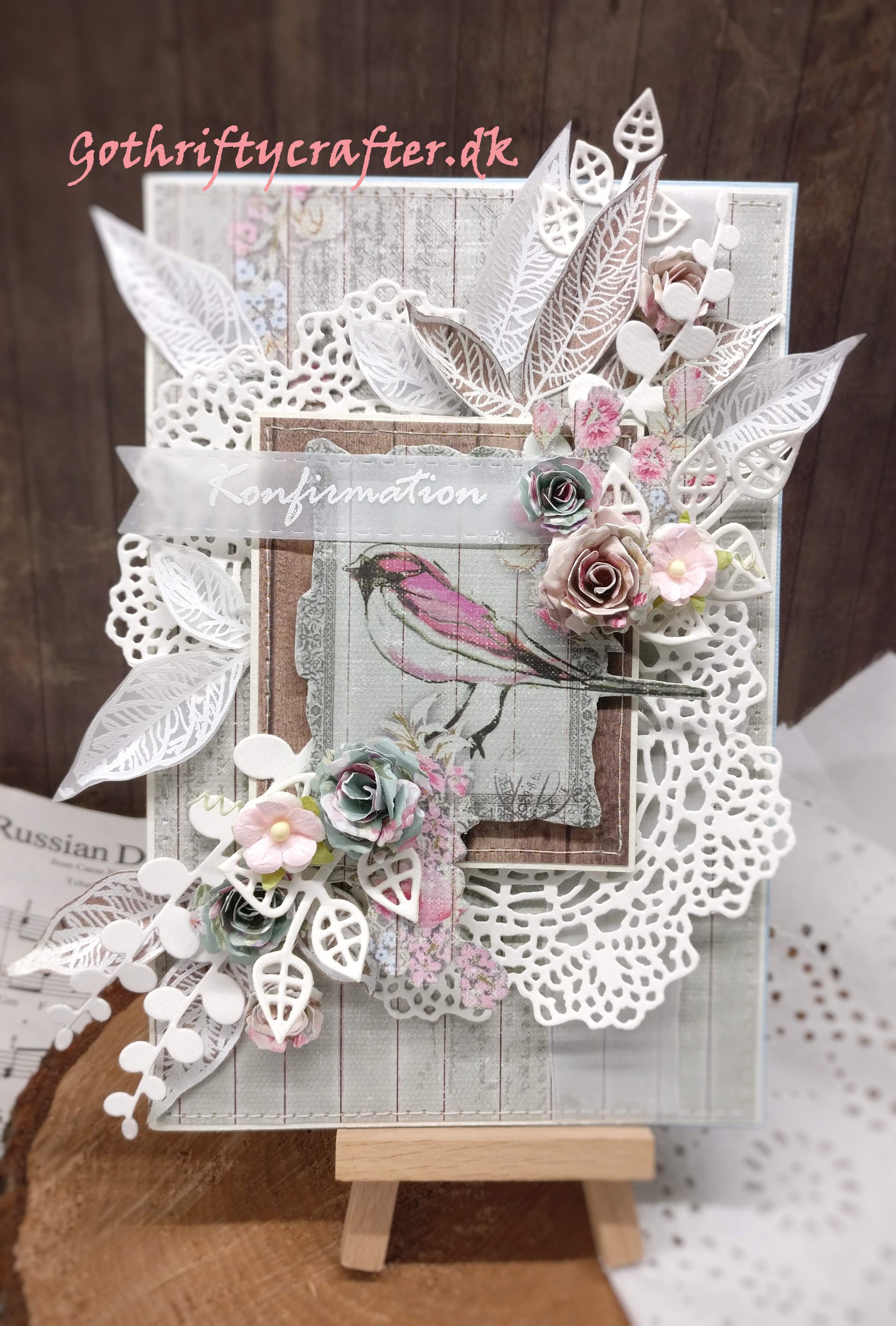 Congratulations card with embossed elements
