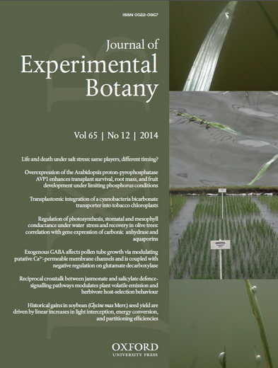Journal of Experimental Botany - cover photo by Ole Pedersen