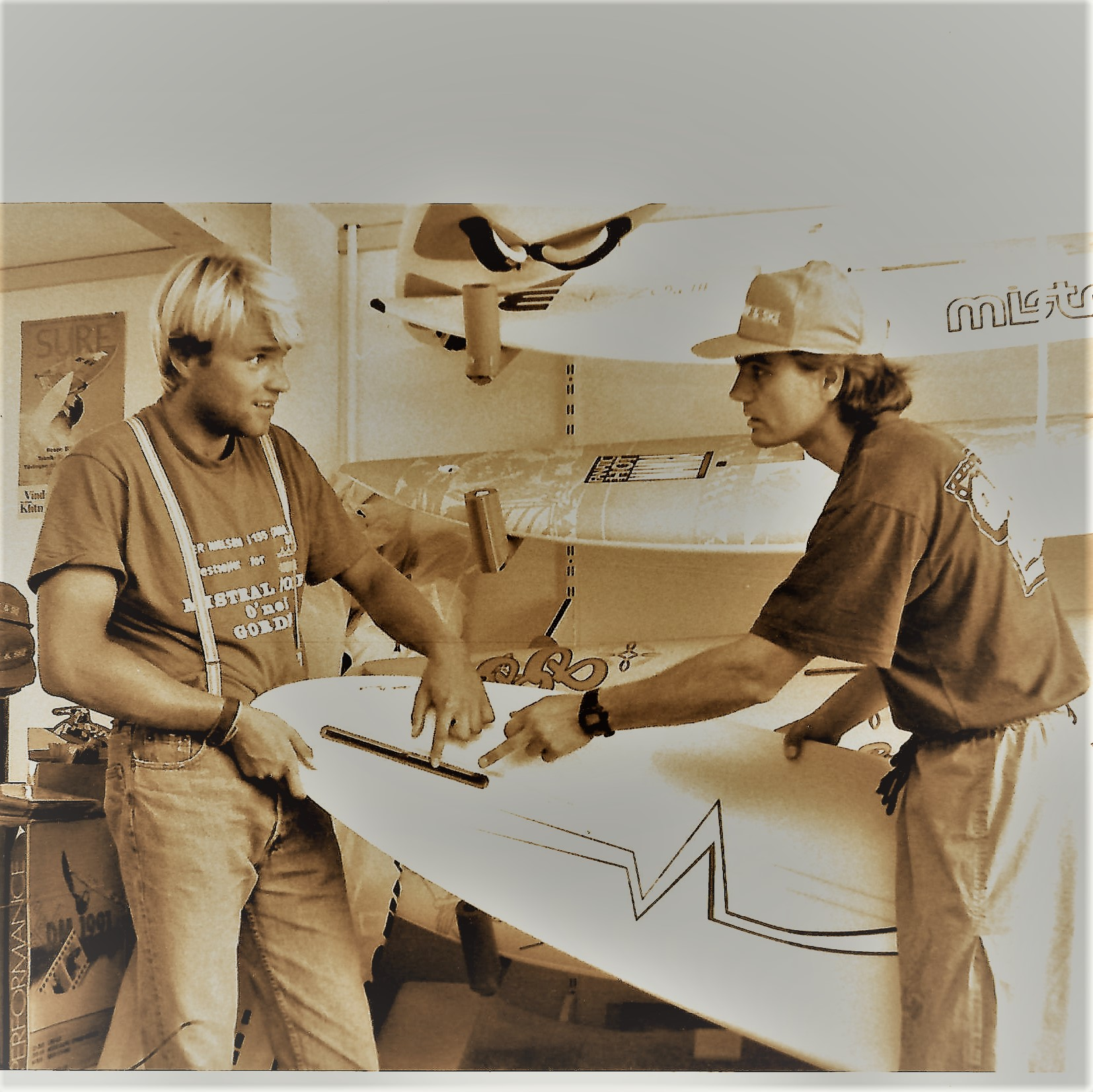 Per Nielsen and Christian Taasti in the Shop 1991 2jpg