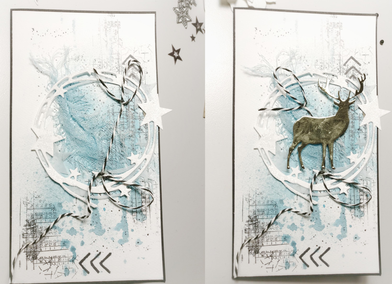 GoThriftyCrafter blue christmas card background 3jpg