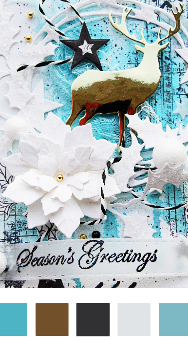 GoThriftyCrafter blue christmas card colour palettejpg