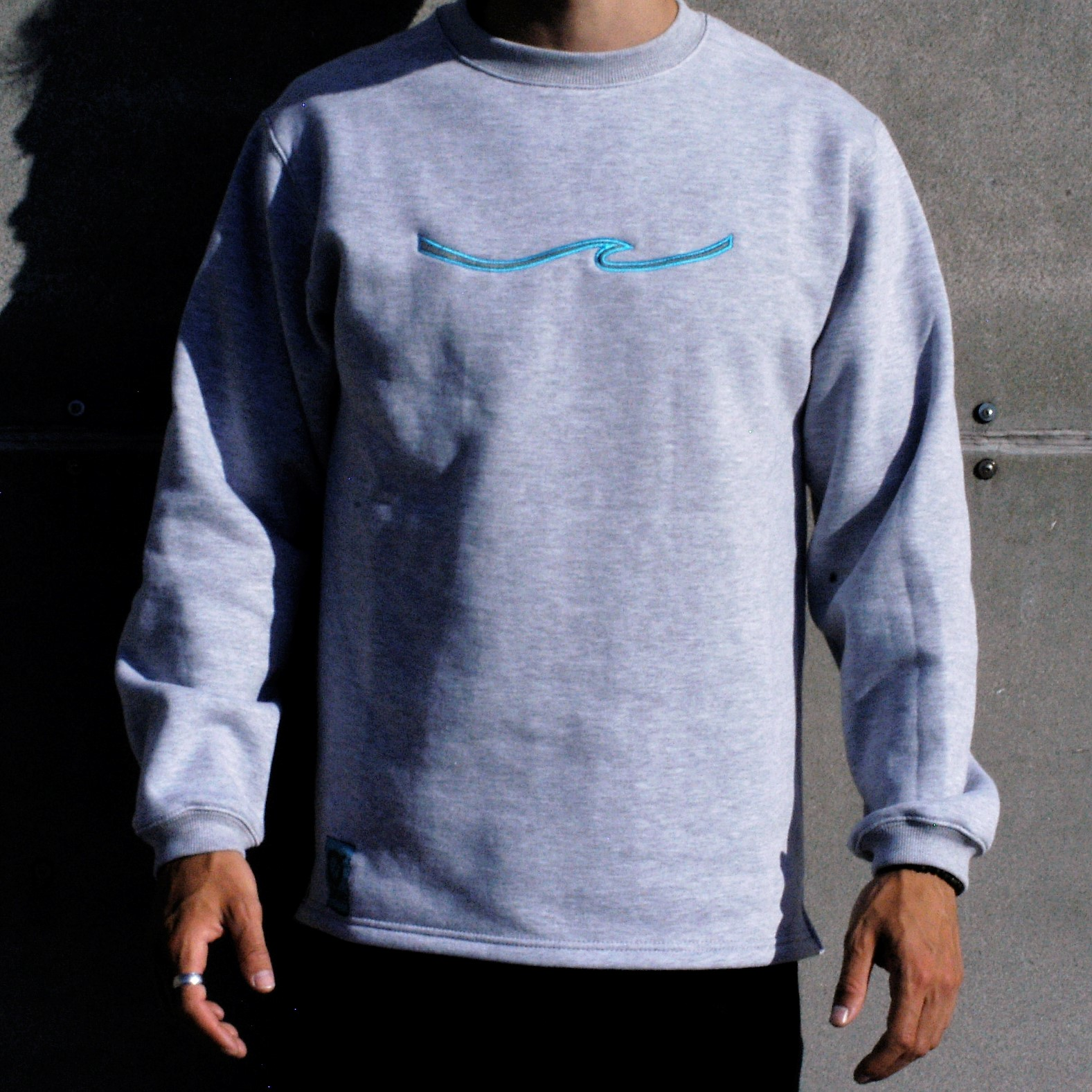 Klitmøller Rig Wear Sweatshirt - Ørhage - Light Grey Melange - Embroidery