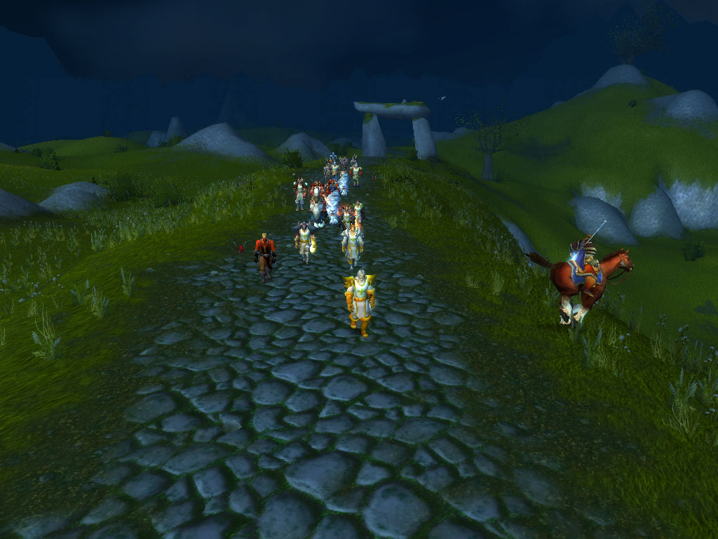 On our way through Arathi towards Uthers Tomb